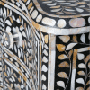 Black Wave Fronted Mother of Pearl Chest of Drawers 4
