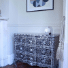 Black Wave Fronted Mother of Pearl Chest of Drawers 6