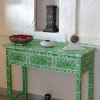 Green Mother of Pearl Dressing Table 2