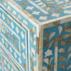 Light Blue Mother of Pearl Bedside Cupboard 3