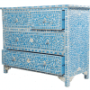 Turquoise Mother of Pearl Chest of Drawers 3