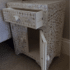 White Mother of Pearl Bedside Cupboard 5